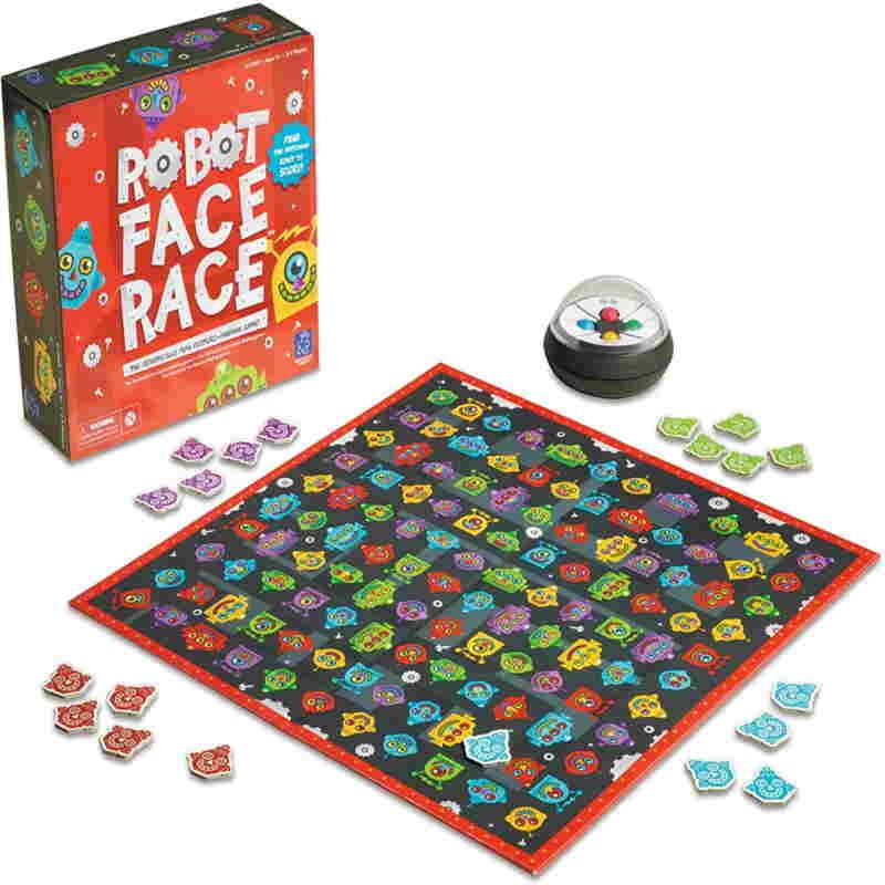 juego visual robot face to face